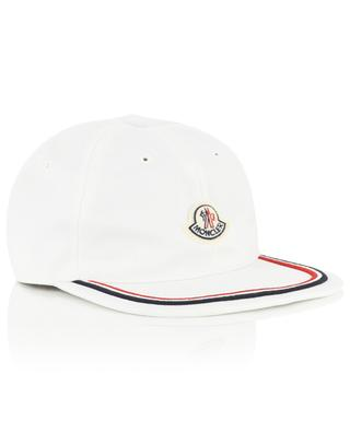 Cotton baseball cap with tricolour stripe MONCLER