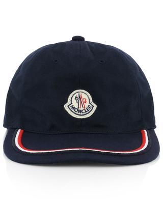Baseballkappe aus Baumwolle mit dreifarbigem Streifen MONCLER
