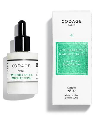 Pflege gegen Hautglanz & Unreinheiten Serum N°02 CODAGE