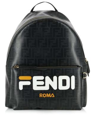 Sac à dos en tissu vitrifié logo FF FENDI