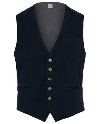 Striped textured cototn vest ELEVENTY