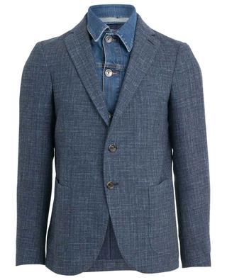2-in-1 linen blend blazer ELEVENTY