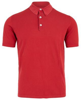 Strick-Polohemd aus leichter Baumwolle ELEVENTY