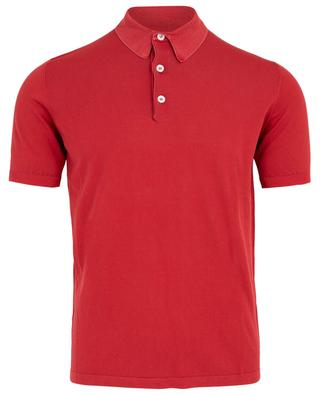 Lightweight cotton knit polo shirt ELEVENTY