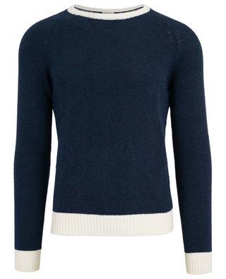 Zweifarbiger Bouclé-Pullover ELEVENTY