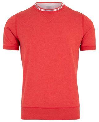 T-Shirt mit Rippstrickbund ELEVENTY