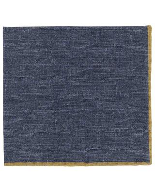 Wool and cotton bicolour pocket square ELEVENTY