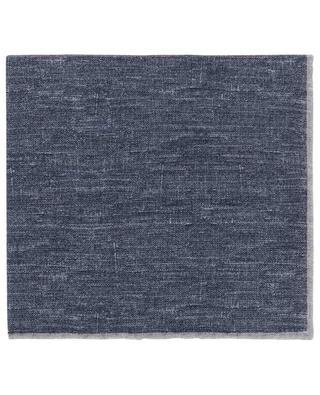 Pochette bicolore en laine et coton ELEVENTY