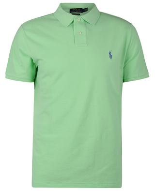 Custom Slim Fit cotton piqué polo with colourful Pony embroidery POLO RALPH LAUREN