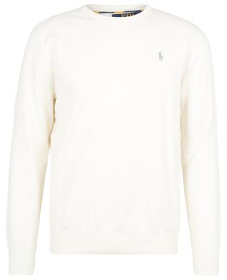Pony embroidered pima cotton round neck jumper POLO RALPH LAUREN