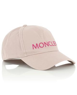 Logo embroidered cotton baseball cap MONCLER