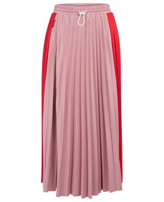 Technical fabric pleated midi skirt MONCLER