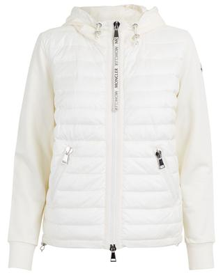 Sweat-shirt zippé empiècement doudoune MONCLER