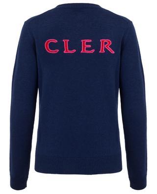 Logo embroidered jacquard jumper MONCLER