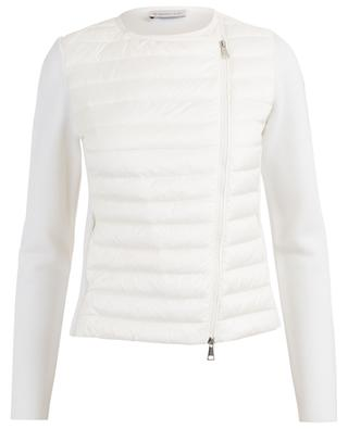 Cinched cardigan with down yoke MONCLER