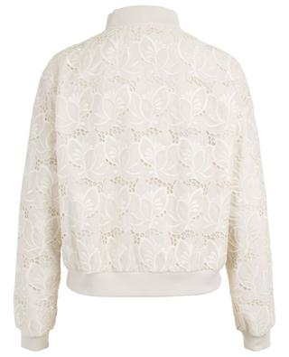 Tinote lightweight floral lace bomber jacket MONCLER