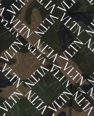 VLTN Grid camouflage pattern scarf VALENTINO