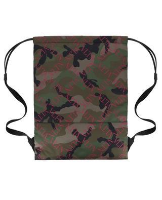 Sac à dos en nylon VLTN Grid Camouflage VALENTINO
