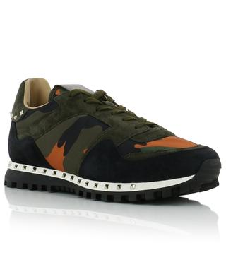 Army-print nylon and suede sneakers VALENTINO