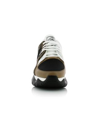 FF leather and mesh sneakers FENDI