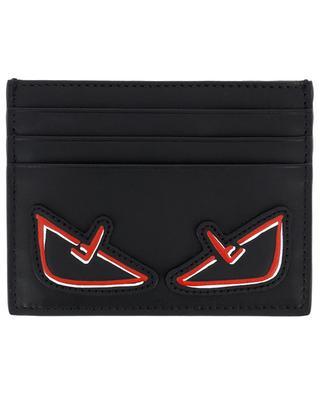 Porte-cartes en cuir Bag Bugs F Eyes FENDI