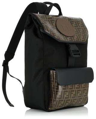 FF Fendi Stamp nylon and leather backpack FENDI