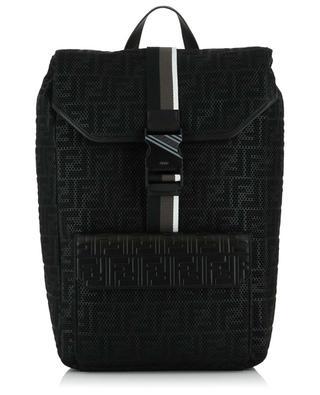 FF mesh and leather backpack FENDI