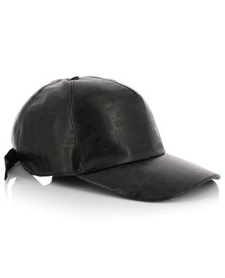FF logo glazed jacquard baseball cap FENDI