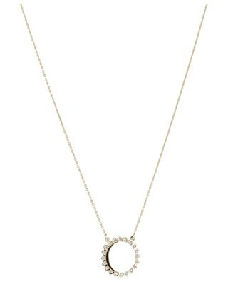 Sun Large yellow gold plated necklace AVINAS
