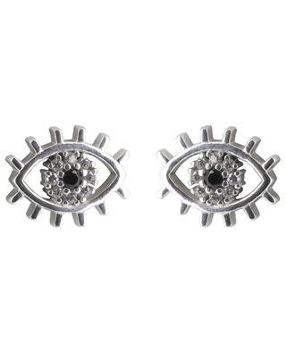 Boucles d'oreilles en argent rhodié Eye AVINAS