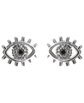 Eye rhodium plated silver earrings AVINAS