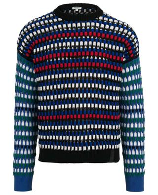Multi-coloured openwork jumper KENZO