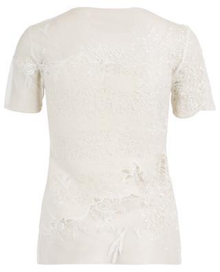 T-shirt en laine mélangée avec dentelle ERMANNO SCERVINO