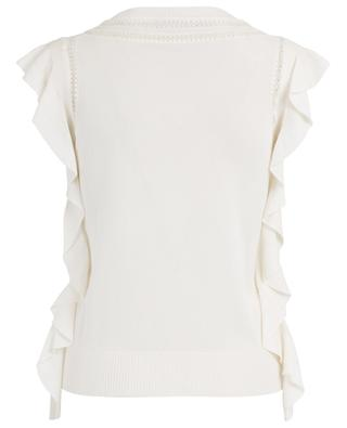 Ruffled lace embellished top ERMANNO SCERVINO