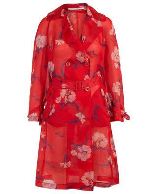 Floral organza trench coat ERMANO SCERVINO