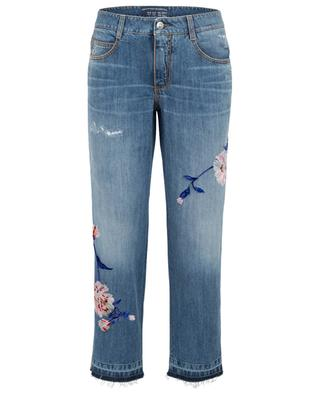 Flower adorned boyfriend jeans ERMANNO SCERVINO