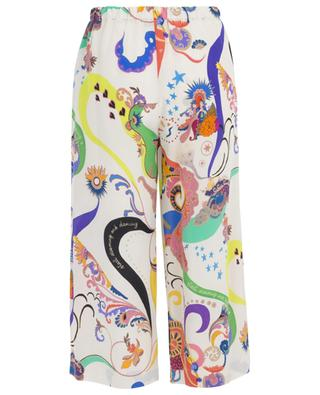 Printed silk cropped trousers ETRO