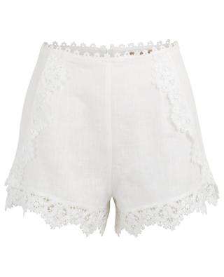 Embroidered linen beach shorts ERMANNO SCERVINO