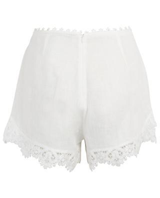 Embroidered linen beach shorts ERMANNO SCERVINO