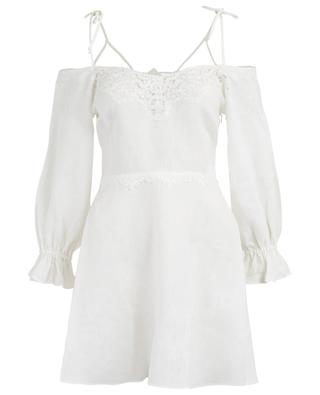 Linen beach dress with embroideries ERMANNO SCERVINO