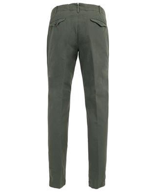 Verve slim fit canvas trousers INCOTEX