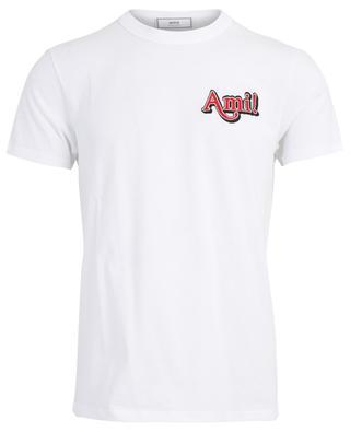 T-Shirt aus Baumwolle mit Stickerei Ami! AMI
