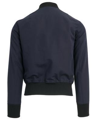 Zippered wool twill bomber jacket AMI
