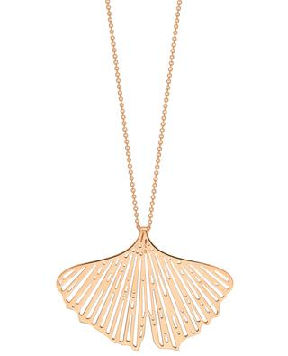 Gingko pink gold necklace GINETTE NY