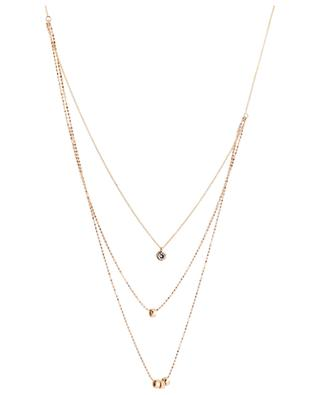 Lonely Diamond pink gold necklace GINETTE NY