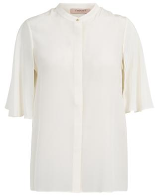 Cape sleeve silk blouse TWINSET