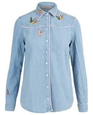 Butterfly pattern jeans shirt TWINSET
