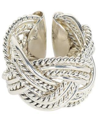 An 903 open silver braided ring POGGI