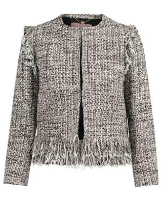 Veste en tweed à franges TWINSET