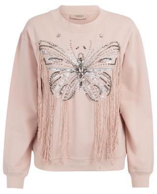 Sweat-shirt brodé d'un papillon TWINSET